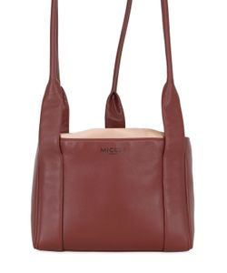 MICOLI | Silk Satin Nappa Leather Tote Bag