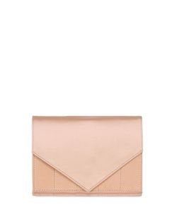 MICOLI | Silk Satin Leather Envelope Clutch