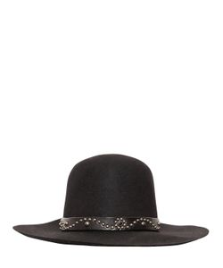 HTC Hollywood Trading Company | Wool Felt Brimmed Hat W/ Studded Hatband