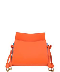 PATRICIA AL'KARY | Leather Shoulder Bag W/ Side Drawstrings