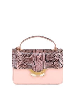 PATRICIA AL'KARY | Small Leather Bag With Python Details