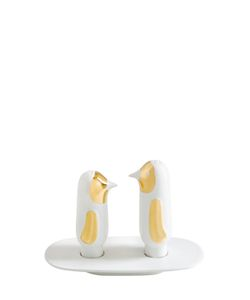 BOSA BY HAYON | Ceramic Salt Pepper Shakers With Tray