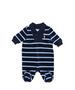 RALPH LAUREN CHILDRENSWEAR | Stripes Printed Cotton Chenille Romper