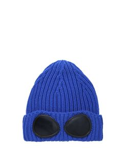 C.P.COMPANY UNDERSIXTEEN   Ribbed Tricot Extra Fine Merino Wool Hat