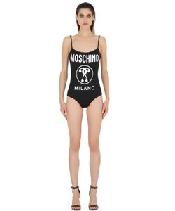 MOSCHINO BEACHWEAR | Logo Printed Lycra Swimsuit