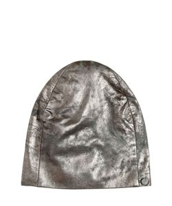 CUTULI CULT | Vintage Effect Laminated Leather Beanie