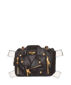 Moschino | Biker Tab Leather Shoulder Bag