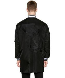 Kenzo | Куртка-Бомбер Из Нейлона С Принтом Логотипа