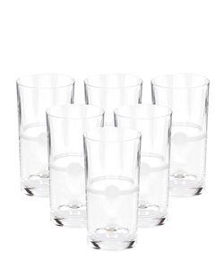 MARIO CIONI | Set Of 6 Crystal D.O.F. Tumbler Glasses