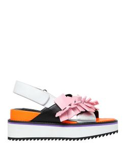 Kat Maconie | 50mm Square Charms Leather Sandals