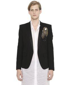 Balmain   Хлопковый Пиджак С Вышивкой
