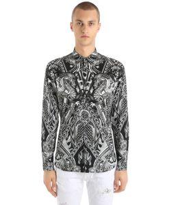 Just Cavalli | Рубашка Из Стретч Поплина С Принтом Драконы