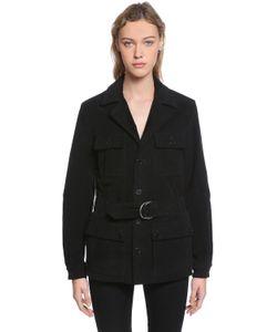 Saint Laurent | Хлопковая Куртка На Поясе