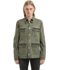 John Richmond   Хлопковая Куртка С Потёртостями
