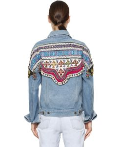 DON'T BELIEVE THE HYPE | Bead Embroide Cotton Denim Jacket