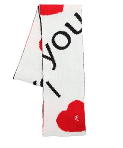 Raf Simons | Шарф I Love You Из Шерстяного Жаккарда