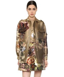 Valentino   Куртка Из Шёлковой Парчи Жаккарда