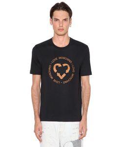 Love Moschino | Футболка Из Хлопкового Джерси С Принтом Quork