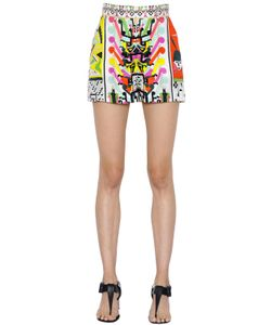 Emilio Pucci | Printed Maya Silk Twill Shorts