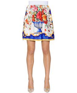 Dolce & Gabbana | Юбка Из Шёлковой Саржи С Принтом Bouquet