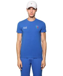 EA7 | Italian Team Stretch Jersey T-Shirt