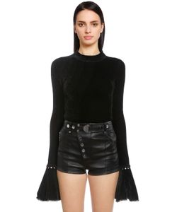 Alexander Wang | Flared Cuffs Chenille Jacquard Sweater