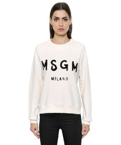 MSGM | Logo Cotton Jersey Sweatshirt
