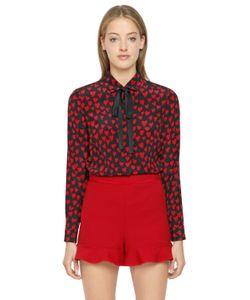 Red Valentino | Рубашка Из Крепдешина С Принтом Сердце