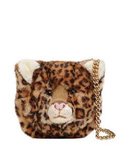 Dolce & Gabbana | Сумка Леопард Из Плюша И Тиснёной Кожи