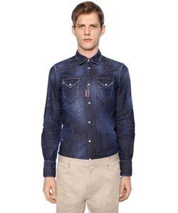 Dsquared2 | Рубашка Из Стретч Денима В Ковбойском Стиле
