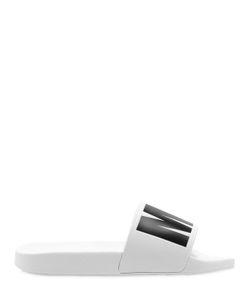 MSGM | Резиновые Шлёпанцы С Логотипом 20mm