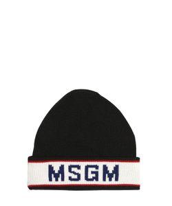 MSGM | Полушерстяная Шапка С Логотипом