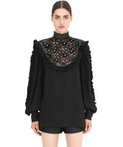 NENA RISTICH | Рубашка Из Шёлка И Кружева
