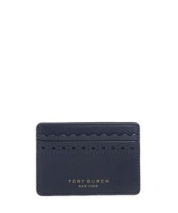 Tory Burch | Block T Perforated Leather Card Holder