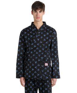 Kenzo | Пижамная Рубашка Из Поплин С Принтом Mays Flower