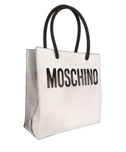 Moschino | Shopping Bag Printed Leather Pouch