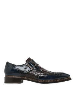 Harris | Кожаные Туфли-Монки С Крокодиловым Тиснением