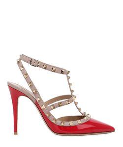 Valentino | Туфли Rockstud Из Лакированной Кожи 100Мм