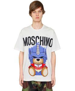 Moschino | Футболка Transformer Bear Из Хлопкового Джерси