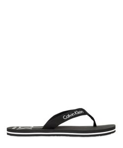 Calvin Klein | Logo Printed Grosgrain Flip Flops