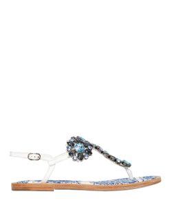 Dolce & Gabbana | Сандалии Из Кожи Maiolica 10mm