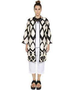 Marina Rinaldi | Пальто Из Полушёлкового Газа С Принтом