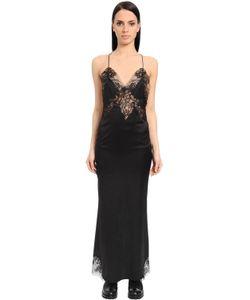 Ermanno Scervino | Платье Из Атласа И Кружева