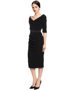 Dolce & Gabbana | Платье Из Шерстяного Крепа