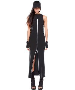 DEMOBAZA | Time Line Zip-Up Cotton Vest Dress