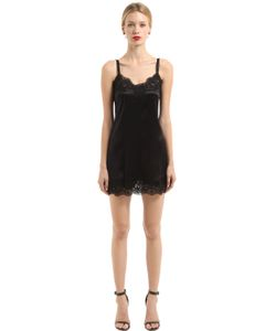 Dolce & Gabbana | Ночная Сорочка Из Атласа И Кружева