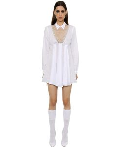 Francesco Scognamiglio | Embroide Muslin Dress W Lace Insert