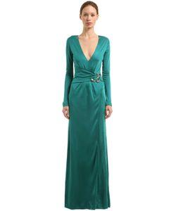 Roberto Cavalli   Платье С Металлической Деталью Змея