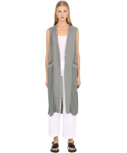 Transit Par-Such | Long Viscose Linen Blend Vest
