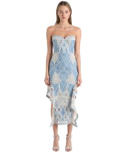 Jonathan Simkhai | Платье Из Шамбре И Кружева Кроше